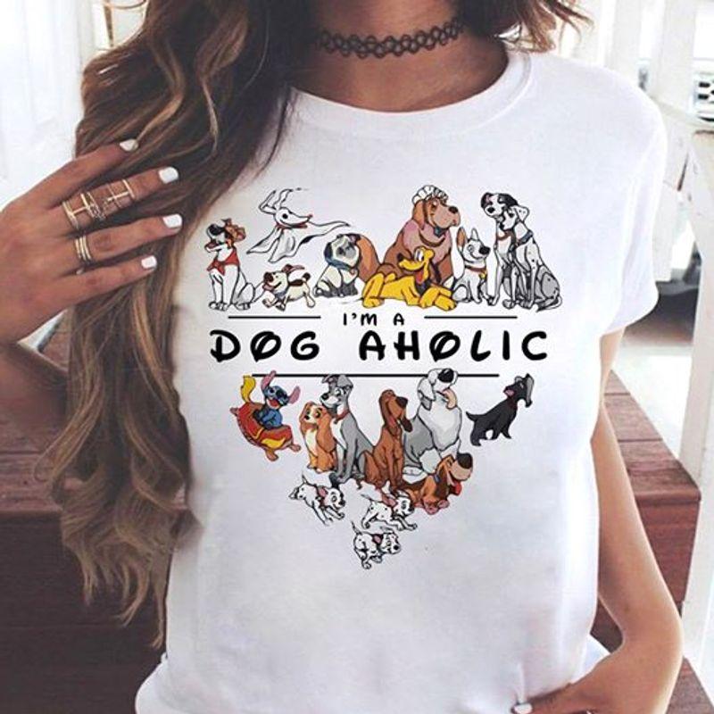 Im A Dog Aholic Heart T-shirt White A8