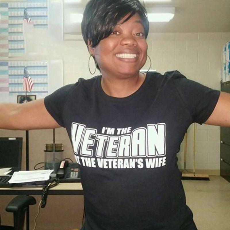 Im The Veteran In The Veteran S Wife T Shirt Black