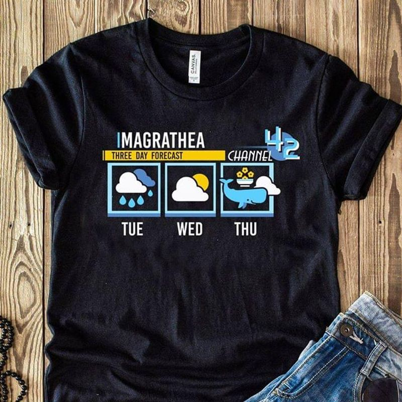 Imagrathea Three Day Forecast Channel Tue Wed Thu Black T Shirt Men And Women S-6XL Cotton
