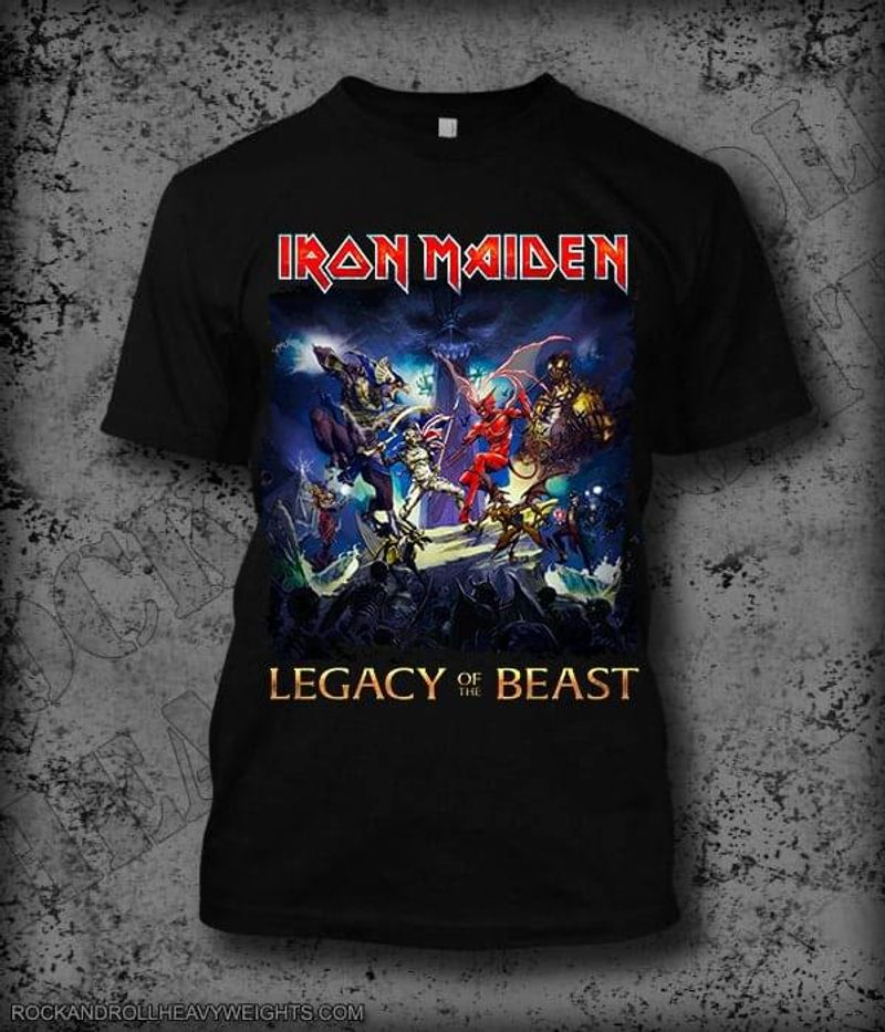Iron Maiden Legacy Of The Best Character Black T Shirt Men And Women S-6XL Cotton