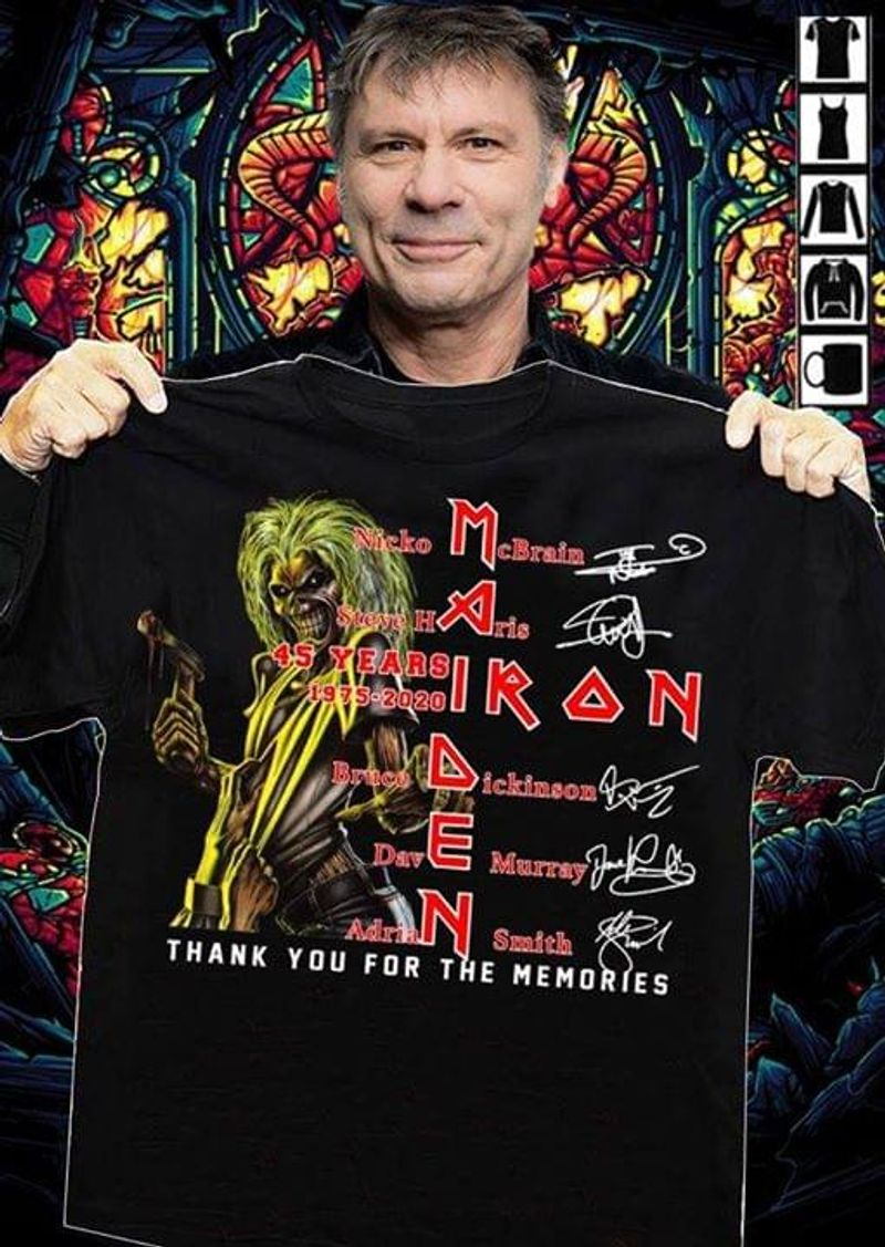 Iron Maiden Thank You For The Memories Vintage For You And Friends Black T Shirt S-6xl Mens And Women Clothing