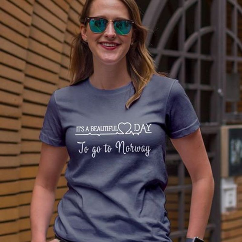It's A Beautiful Day To Go To Norway Navy T-shirt A5