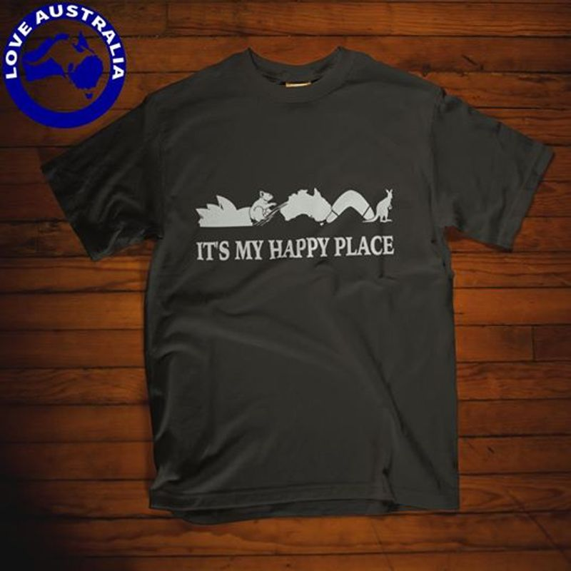 It's My Happy Place  T-shirt Black A5