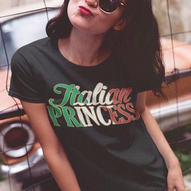 Italian Princess T-shirt Black A8