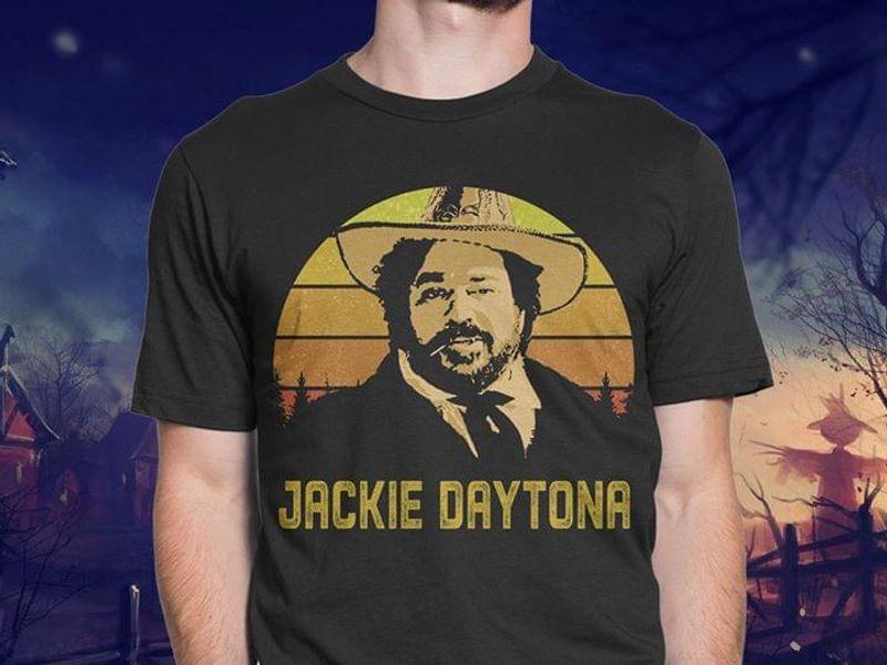 Jackie Daytona Male Vintage Impressive Gift For Daddy On Birthday Black T Shirt Men And Women S-6XL Cotton