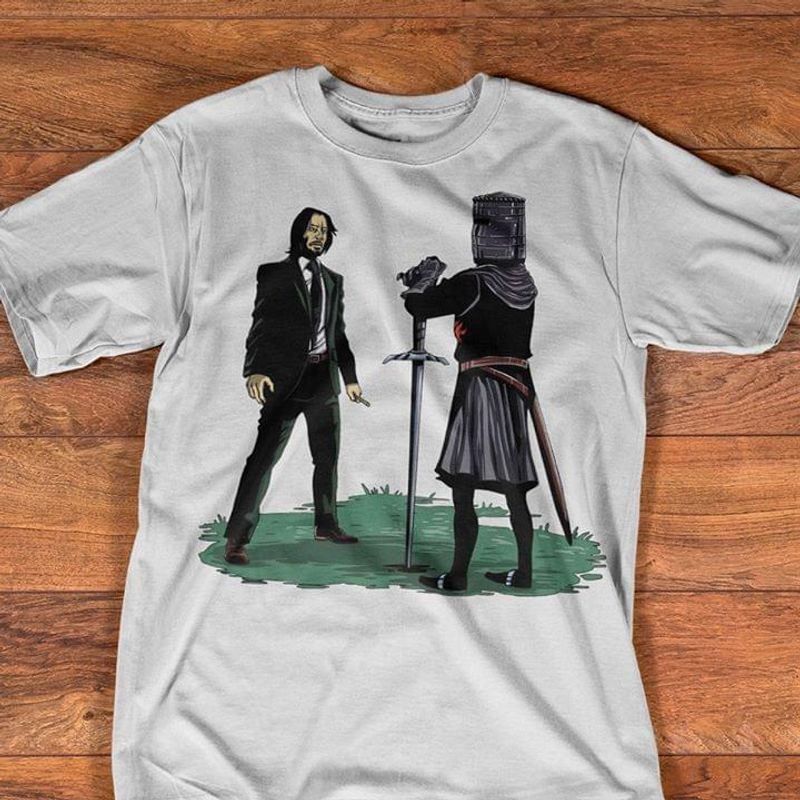 John Wick Knight Movie Crossover Action Fantasy Gift For Fans T Shirt Men/ Woman S-6XL Cotton