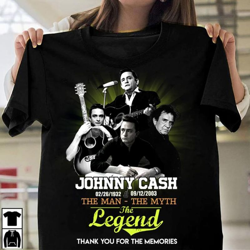 Johnny Cash Fan Gift The Man - The Myth The Legend Black T Shirt Men And Women S-6XL Cotton