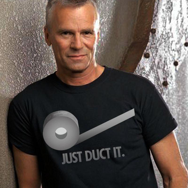 Just Duct It Toilet Paper T-shirt Black A4