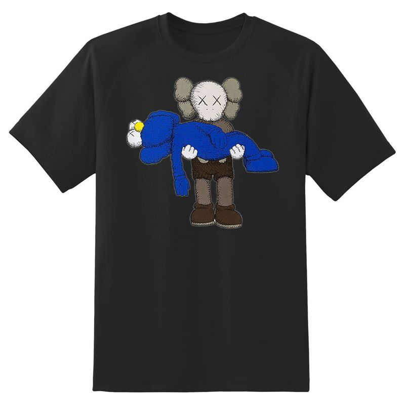 Kaws Carry Cookie Monster T Shirt Black