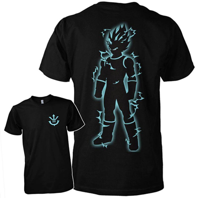 King  Sayan Vegeta  T Shirt Black