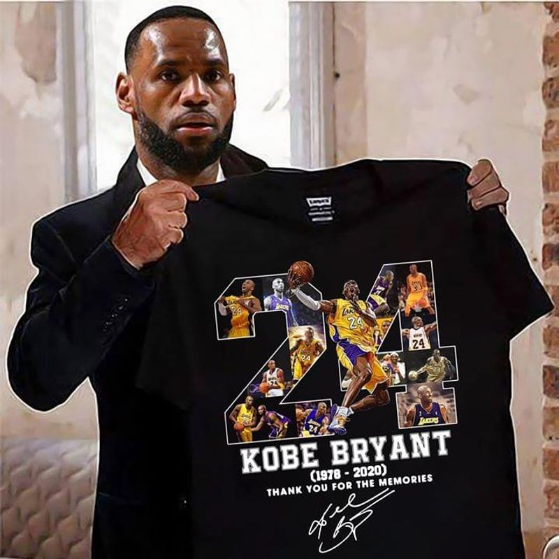 Kobe Bryant 24 Signature Thank You For The Memories Black T Shirt