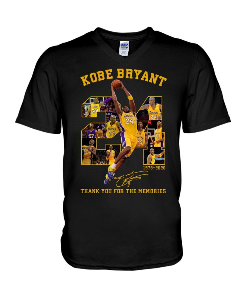 Kobe Bryyant Fans Thank You For The Memories Signature Black T Shirt Men And Women S-6XL Cotton