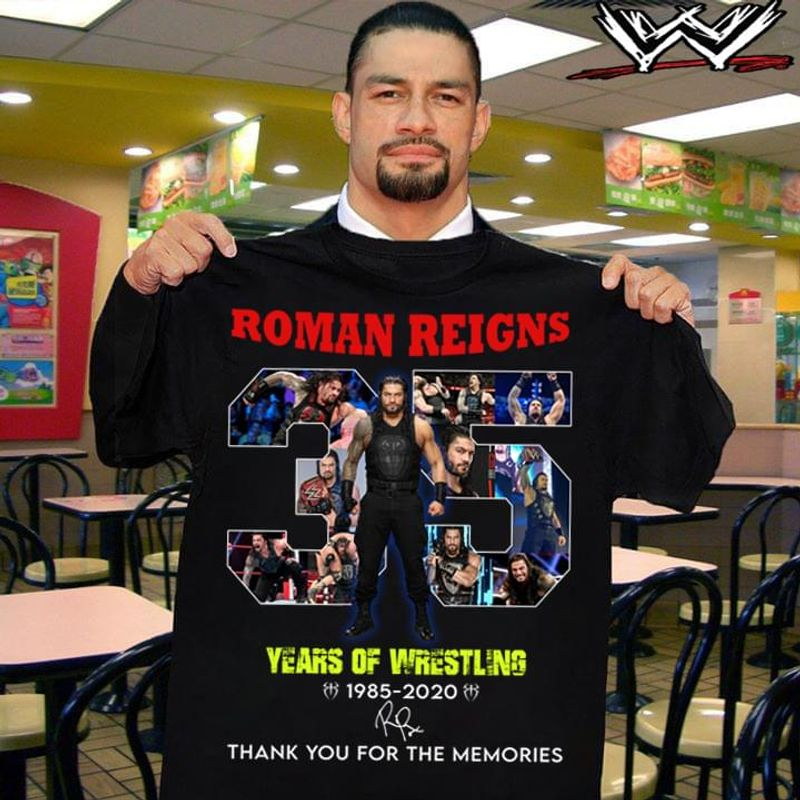 Legend Wreslting Roman Reigns 1985 - 2020 Signature Thank You For The Memories Black T Shirt Men And Women S-6xl Cotton