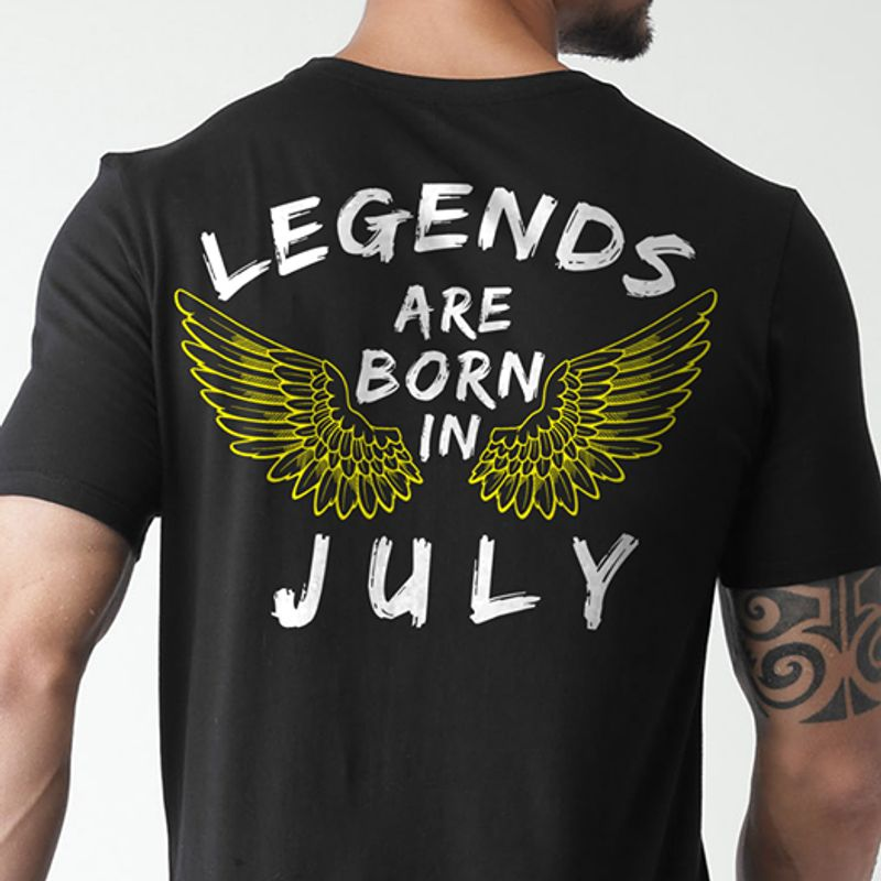 Legends Are Born In July T-shirt Black B4