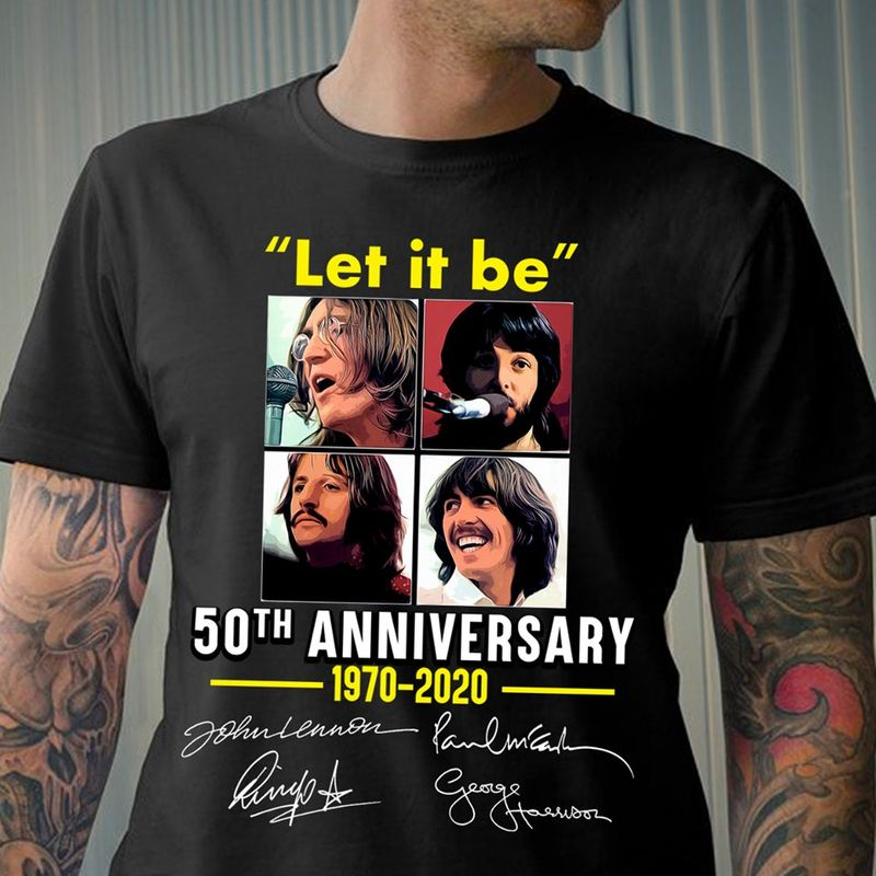 Let It Be 50th Anniversary 1970 2020  T-shirt Black B1