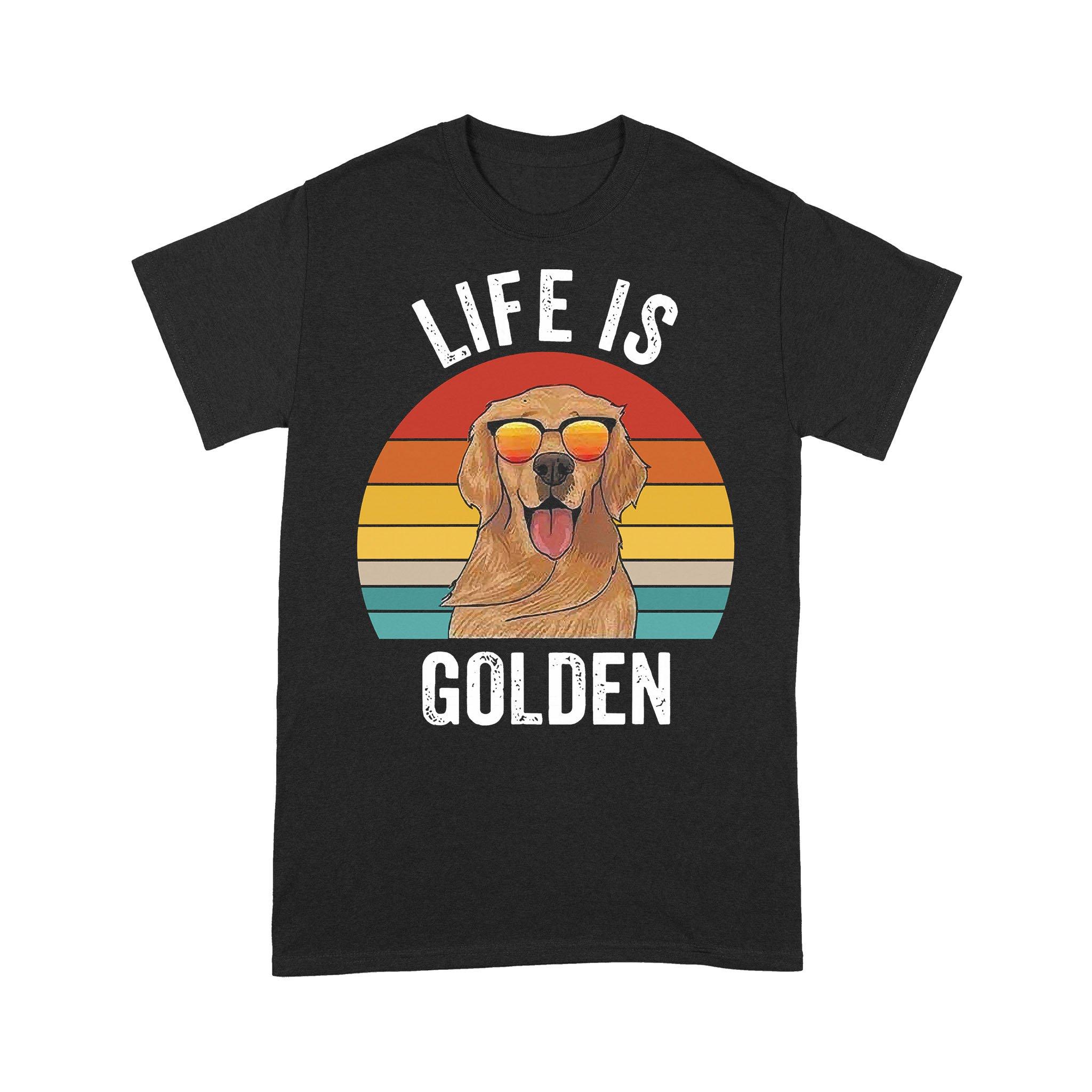 Life Is Golden Dog Lover Vintage T-shirt