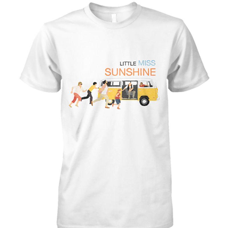 Little Miss Sunshine Bus Running People   T Shirt White B5