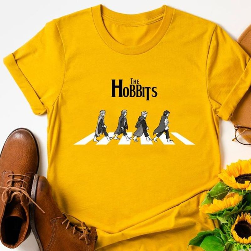 Lord Of The Rings Fans The Bobbits Funny Gold T Shirt Men And Women S-6XL Cotton