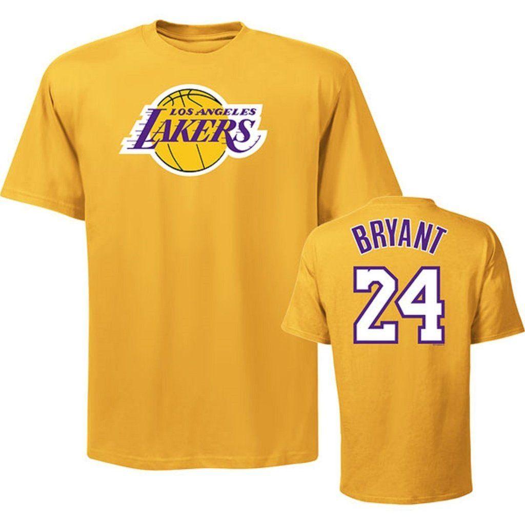 Los Angeles Lakers T-shirt Majestic #24 Kobe Bryant Front&back Print