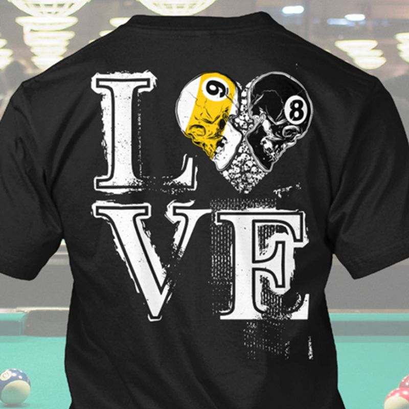 Love Skull T-shirt Black A5