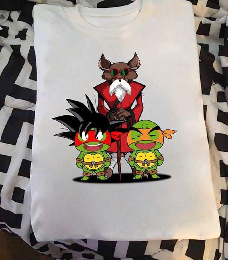 Master Splinter Gohan Dragon Ball Character White T Shirt Men And Women S-6XL Cotton