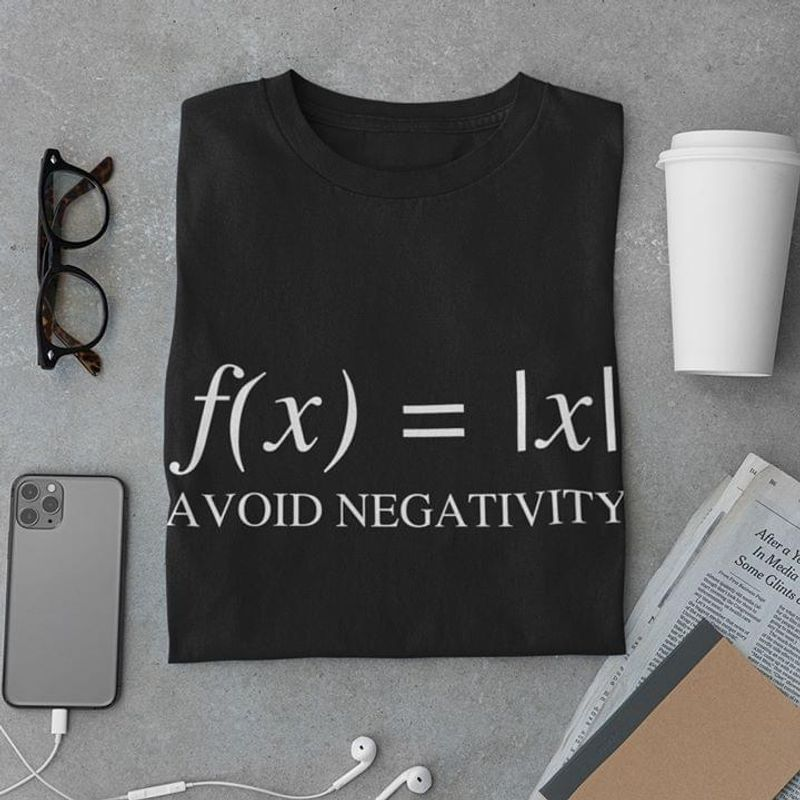 Math Is Fun Avoid Negativity Math Equation Absolute Value Symbol Equal Awesome Gift For Math Lovers Black T Shirt S-6xl Mens And Women Clothing