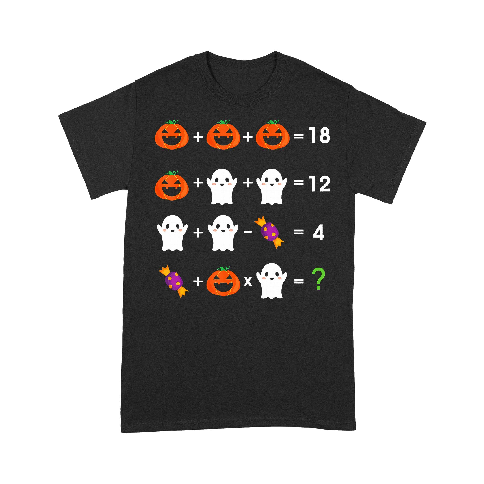 Math Pumpkin Ghost Halloween T-shirt