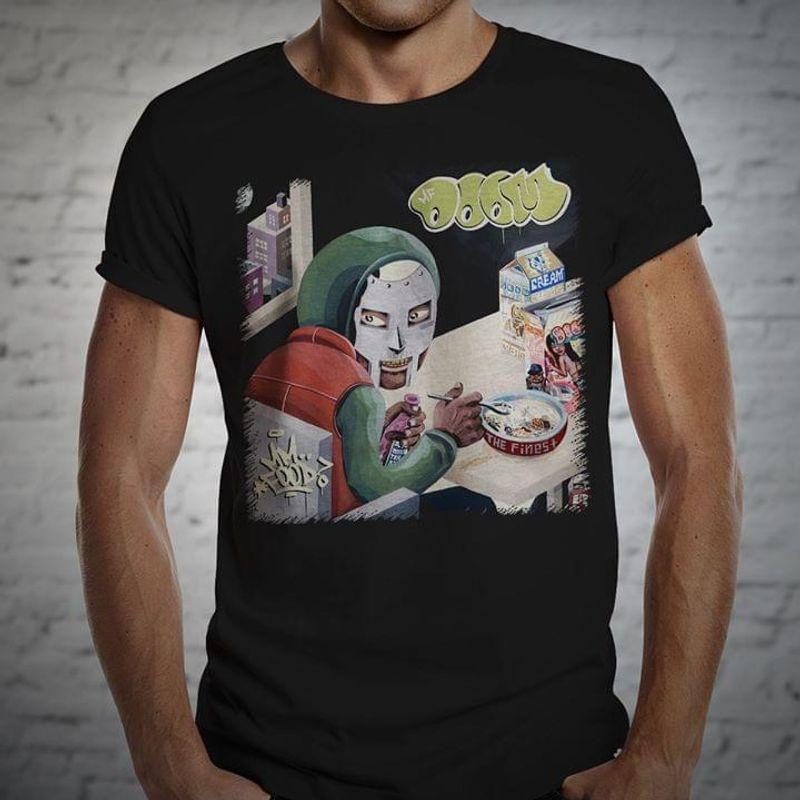 Mf Doom Deep Fried Frenz Gifts For Fan Black T Shirt Men/ Woman S-6XL Cotton