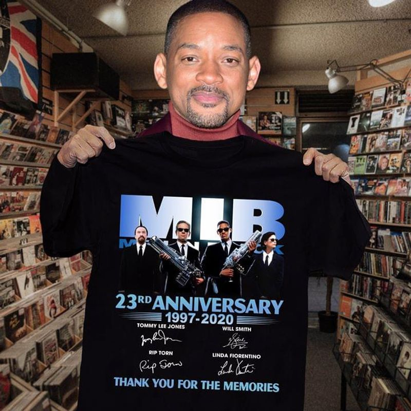 Mib International Fans 23rd Anniversary 1997 2020 Signature Thank You For The Memories Black T Shirt Men And Women S-6xl Cotton