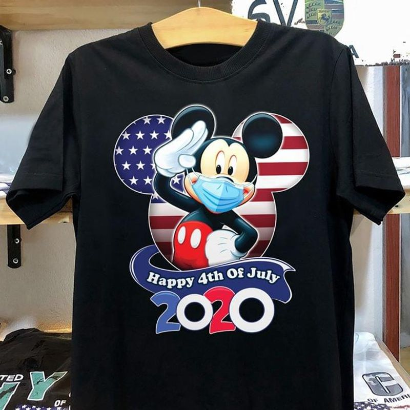 Mickey American Flag Happy 4Th Of July Independence Day 2020 Funny Black Men And Women Shirt