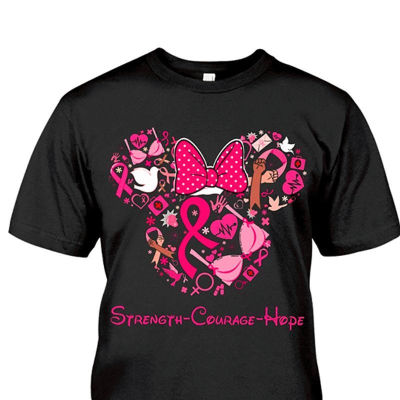 Minnie Strength Courage Hope T-shirt Black A5