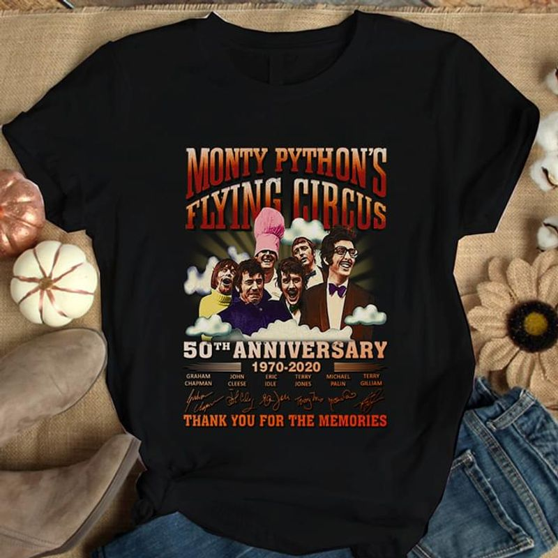 Monty Python'S Flying Circus 50Th Anniversary Gift For Movies Lovers Black T Shirt Men And Women S-6XL Cotton