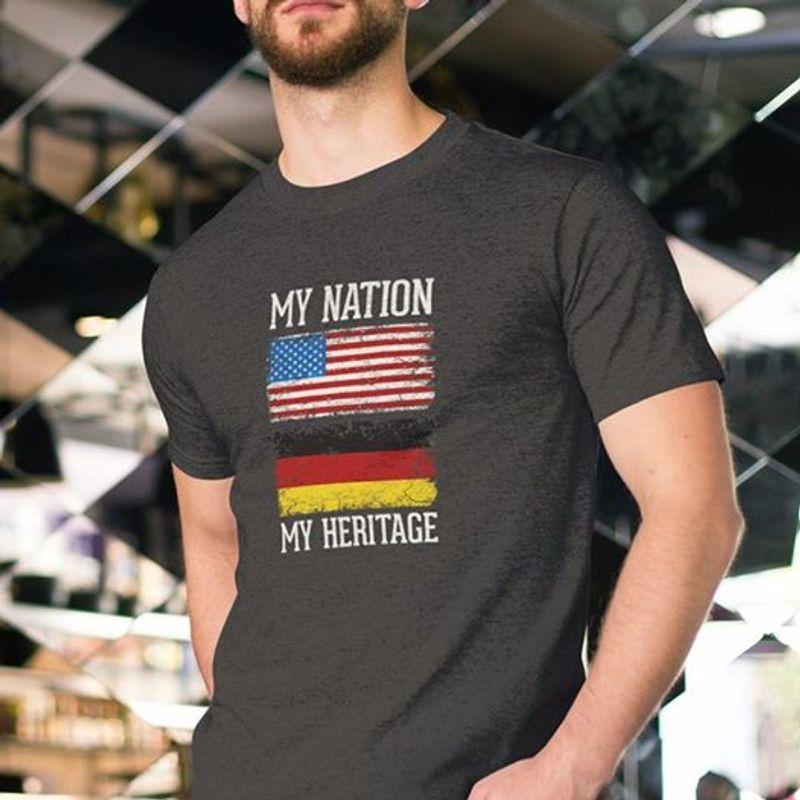 My Nation My Heartage   T-shirt Black B1