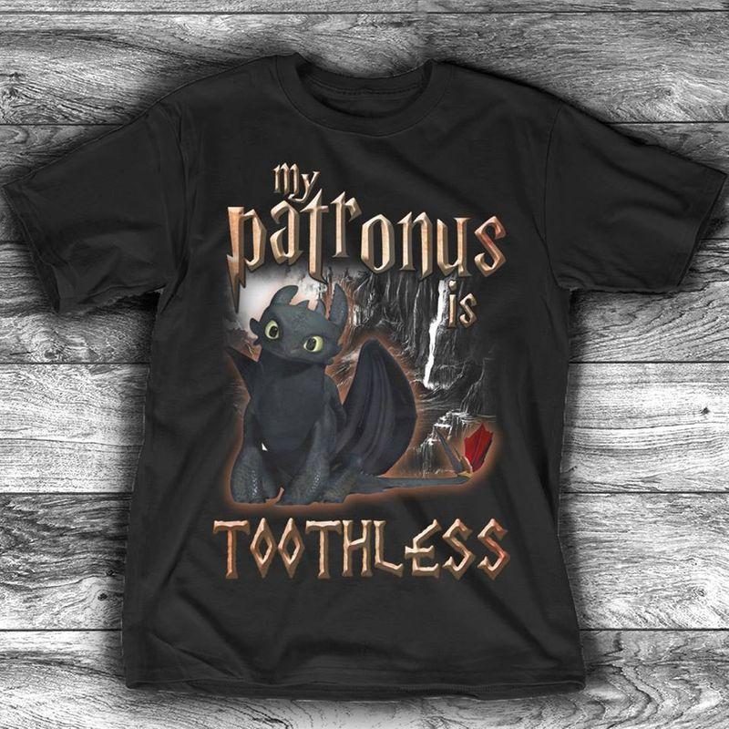 My Patrouns Toothless  T-shirt Black B1
