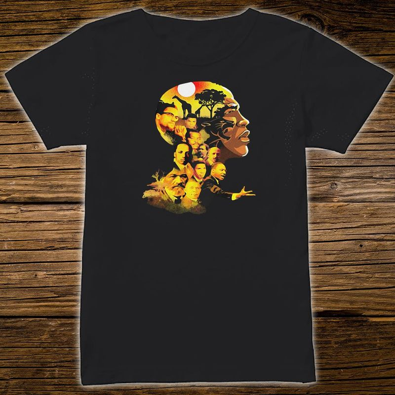 My Roots Famous People In My Head Proud Black History Month Funny Canvas African American T-shirt Black