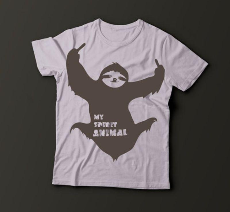 My Spirit Animal Cute Sloth Shirt White
