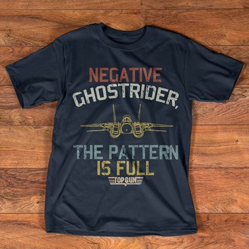 Negative Ghostrider The Pattern Is Full T-shirt Black A1