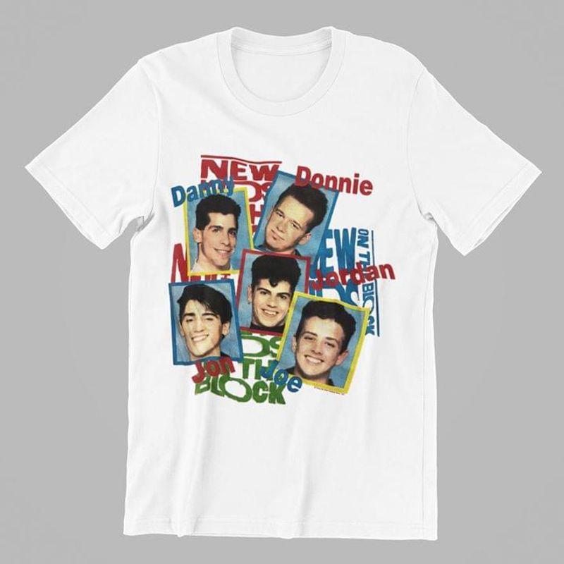 New Kids On The Block Donnie Damy Jordan Jon Joe Best Girt For Nkotb Fans White T Shirt Men And Women S-6xl Cotton