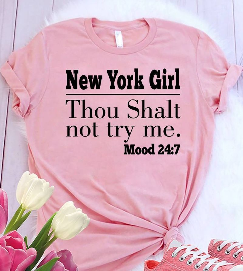 New York Girl Thou Shalt Not Try Me T-shirt Pink