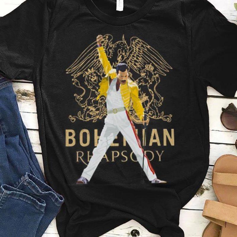 Nice Bohemian Rhapsody Freddie Mercury Shirt Black