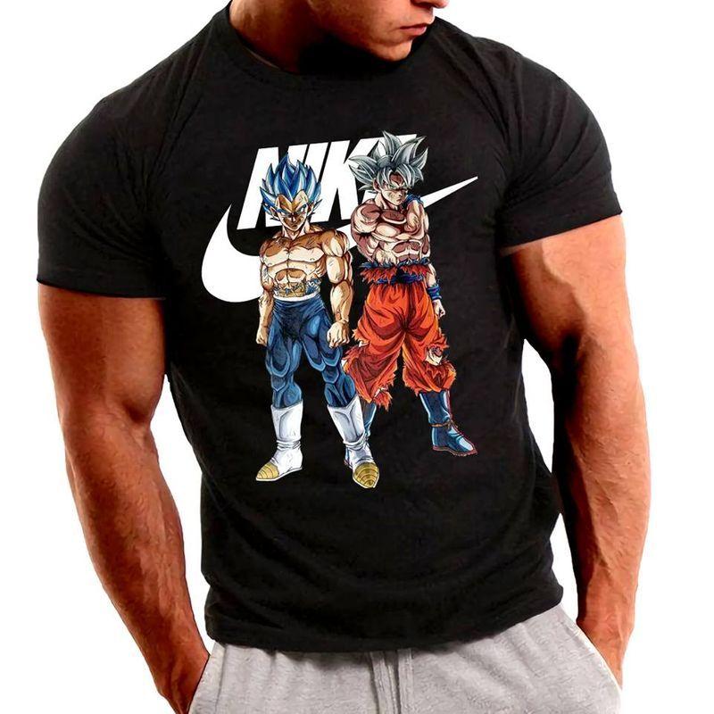 Nike Dragon Ball Vegeta And Son Goku T Shirt Black