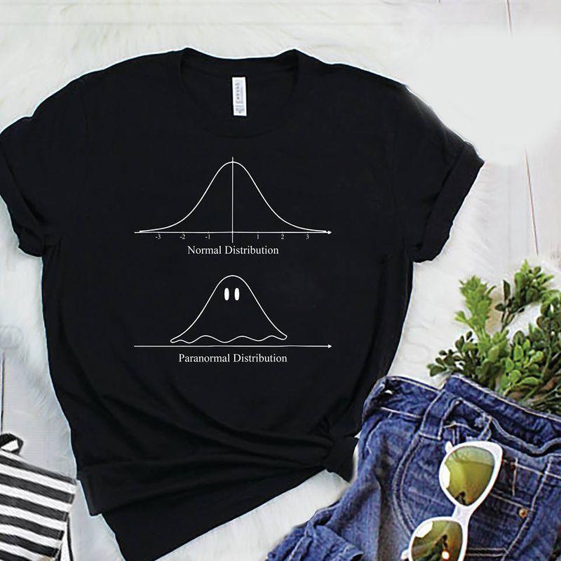Normal Distribution Vs Paranormal Distribution T Shirt Black