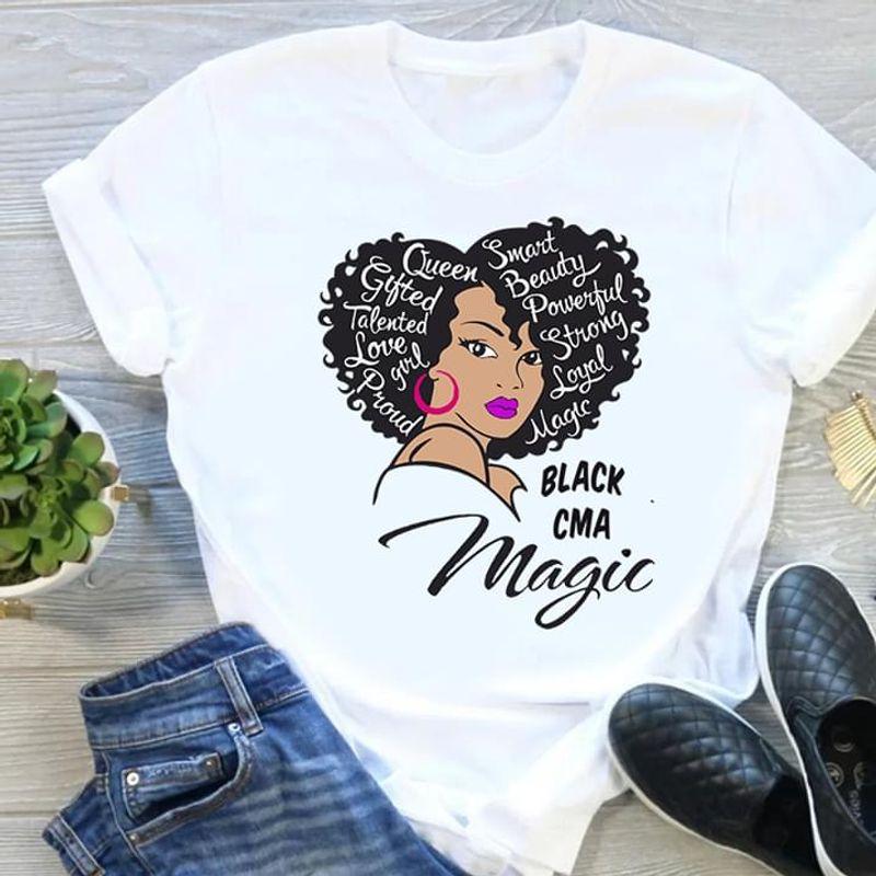 Nurse Black CMA Magic Queen Smart Beauty White T Shirt Men/ Woman S-6XL Cotton