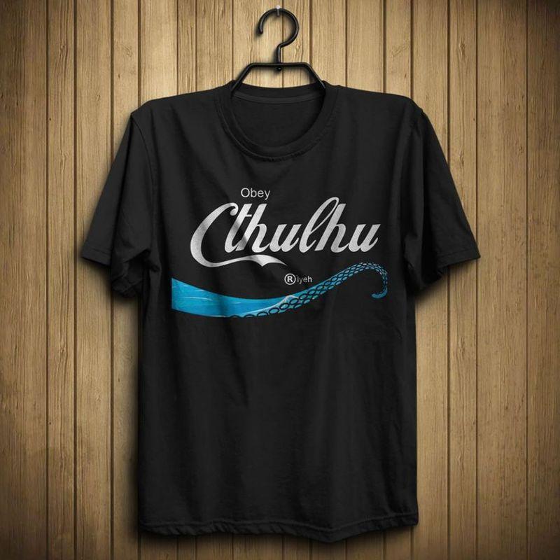 Obey Cthulhu R'lyeh T Shirt Black A5