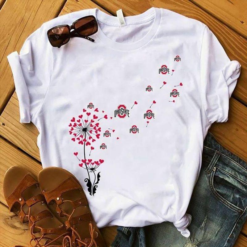 Ohio State Dandelion T Shirt White