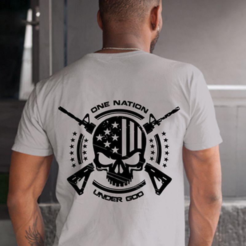 One Nation Under God  T Shirt White B1