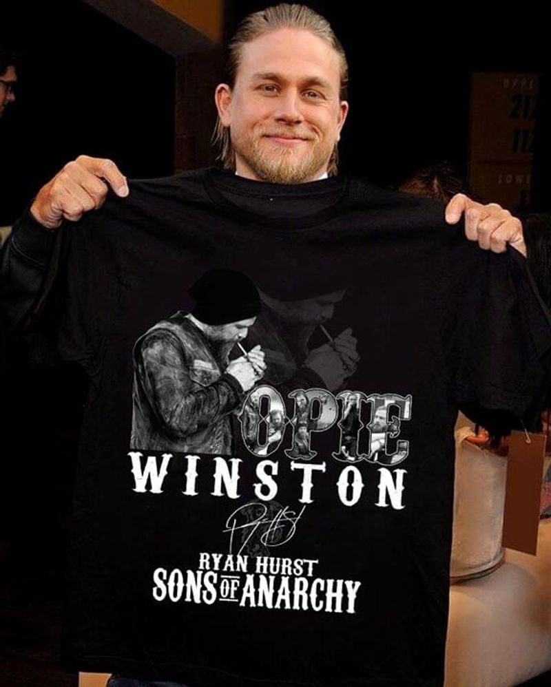 Opie Winston Ryan Hurst Sons Of Anarchy Signature Nice Design For Fans Black T Shirt Men And Women S-6XL Cotton