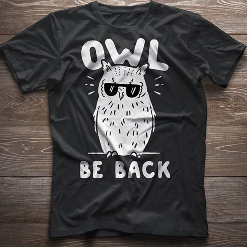 Owl Be Back T-shirt Black A2