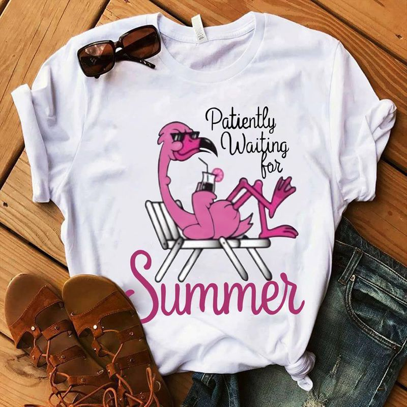 Patienty Waiting For Summer T Shirt White B1
