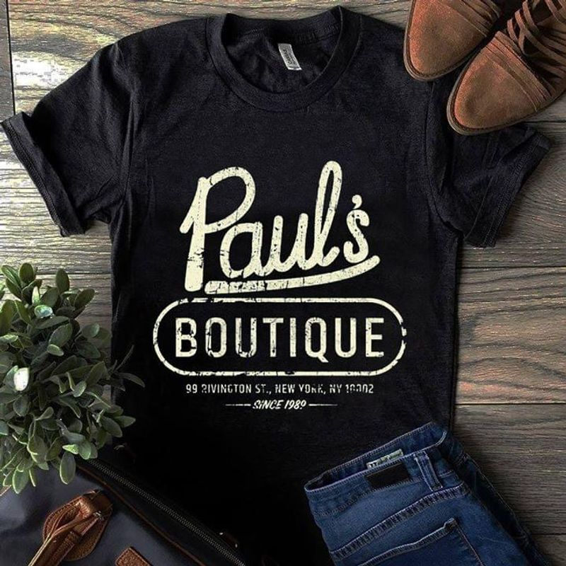 Paul's Boutique New York Since 1989 Vintage Dark Heather T Shirt Men And Women S-6XL Cotton